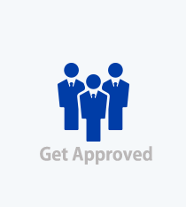 Get Approved link, Blue people image