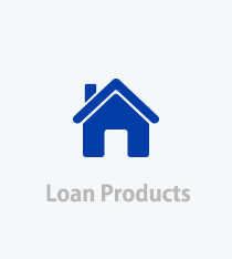 Loan Products link, blue House image