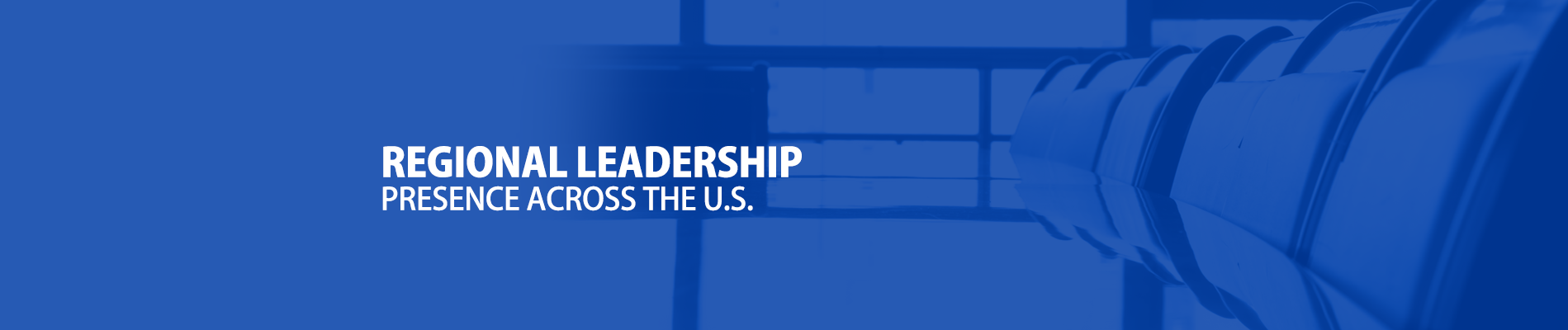 Blue Regional Leadership, presence across the US. image Banner