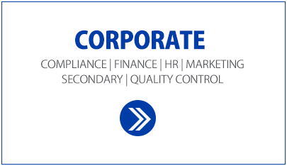 Corporate White Box. compliance, finance, hr, marketing, secondary and quality control positions, using people matters.