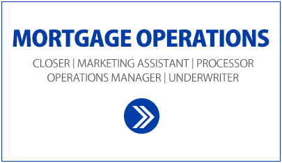 Mortgage Operations White Box. Closer, Marketing Assistant, processor, Operations Manager and underwriter positions, using People matters.